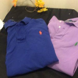 2 polo shirts xl